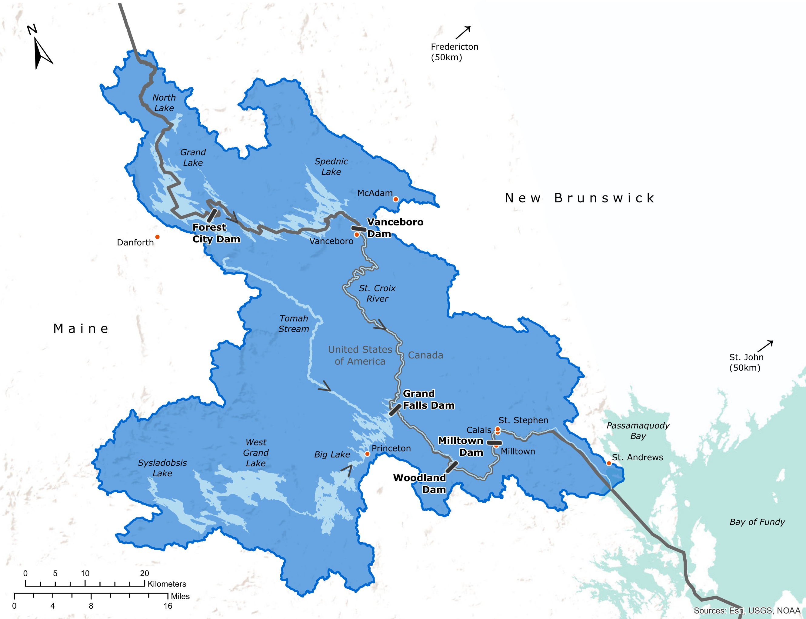 Map of the St. Croix River watershed