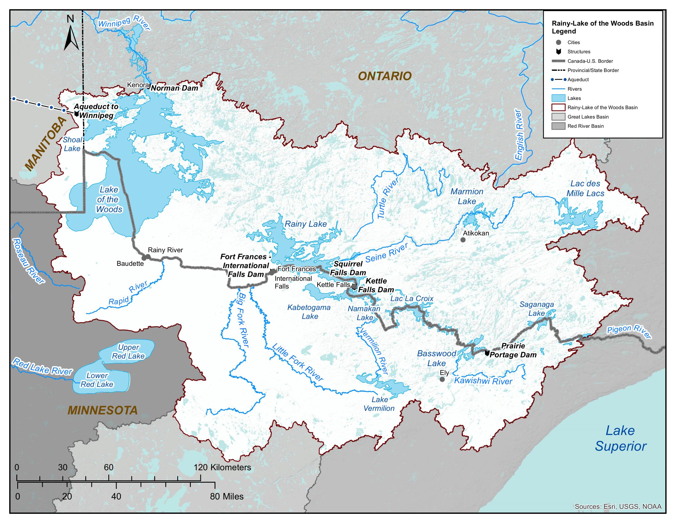 Map - Rainy-Lake of the Woods Basin