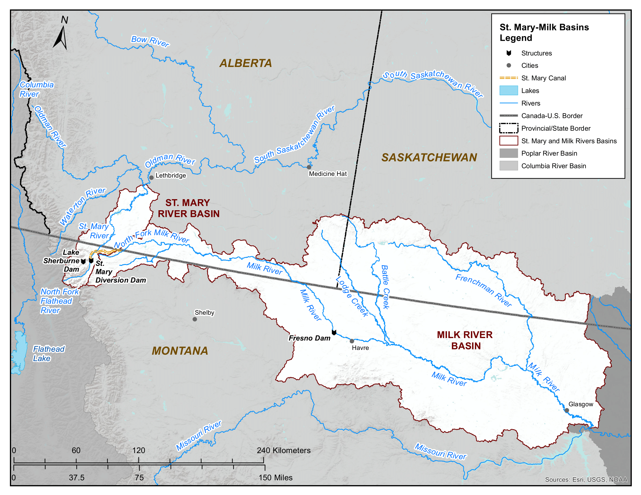 Map - St. Mary and Milk River Basins