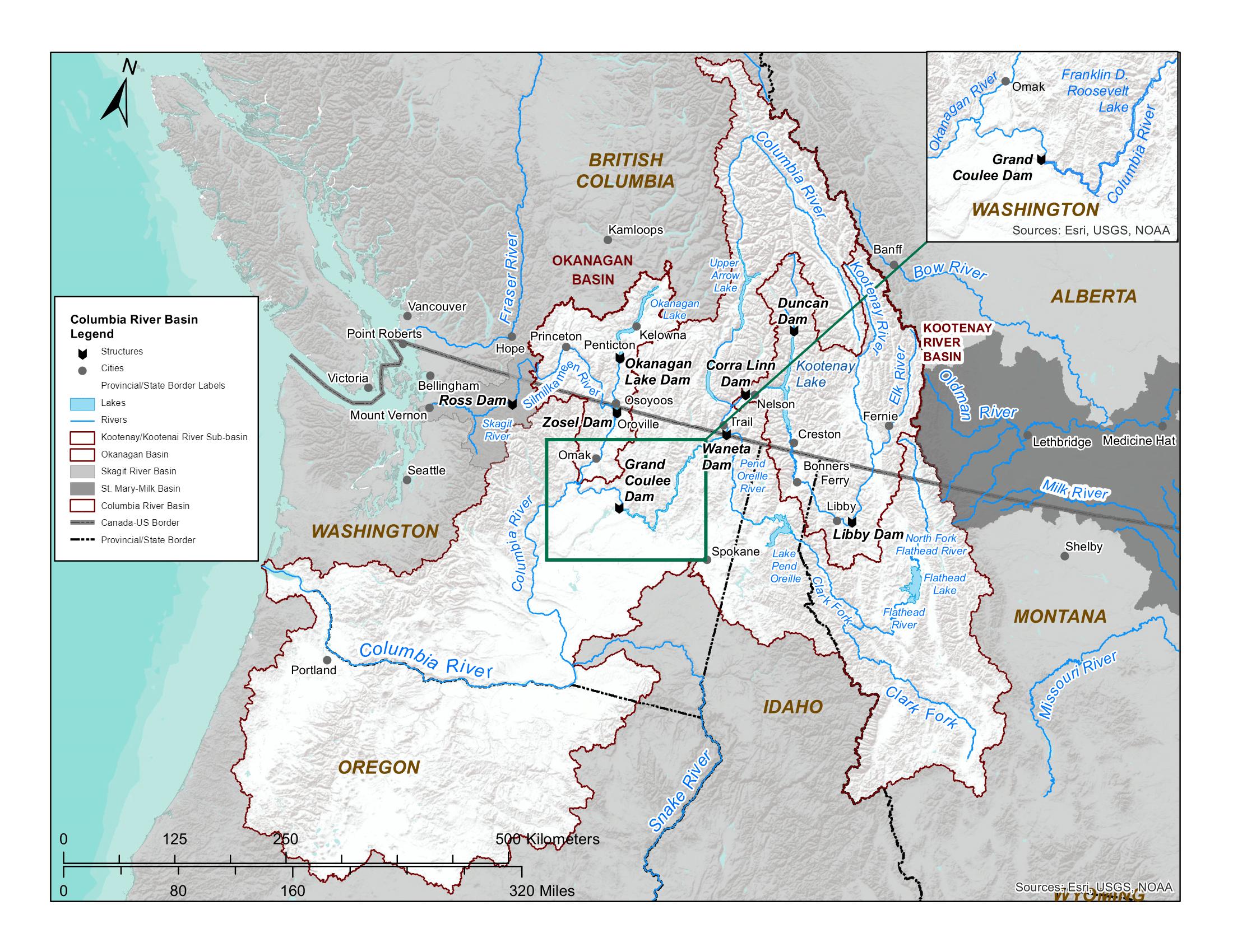 Map of Columbia River Basin