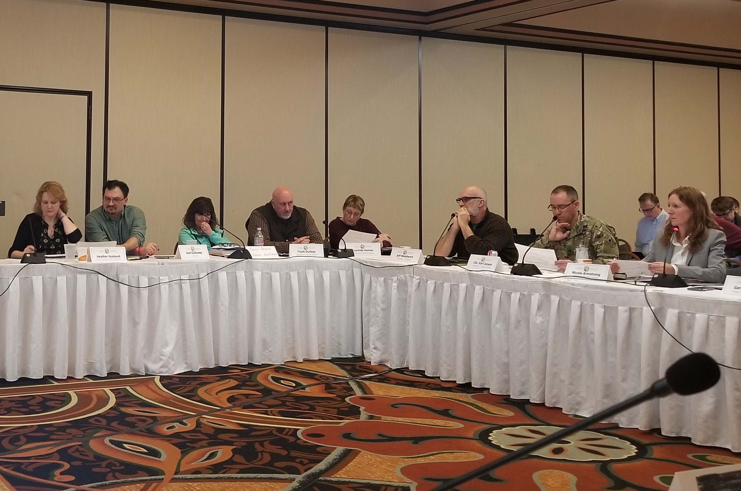 ISRB Meeting February 20, 2020 at the Clarion Hotel in Minot, ND