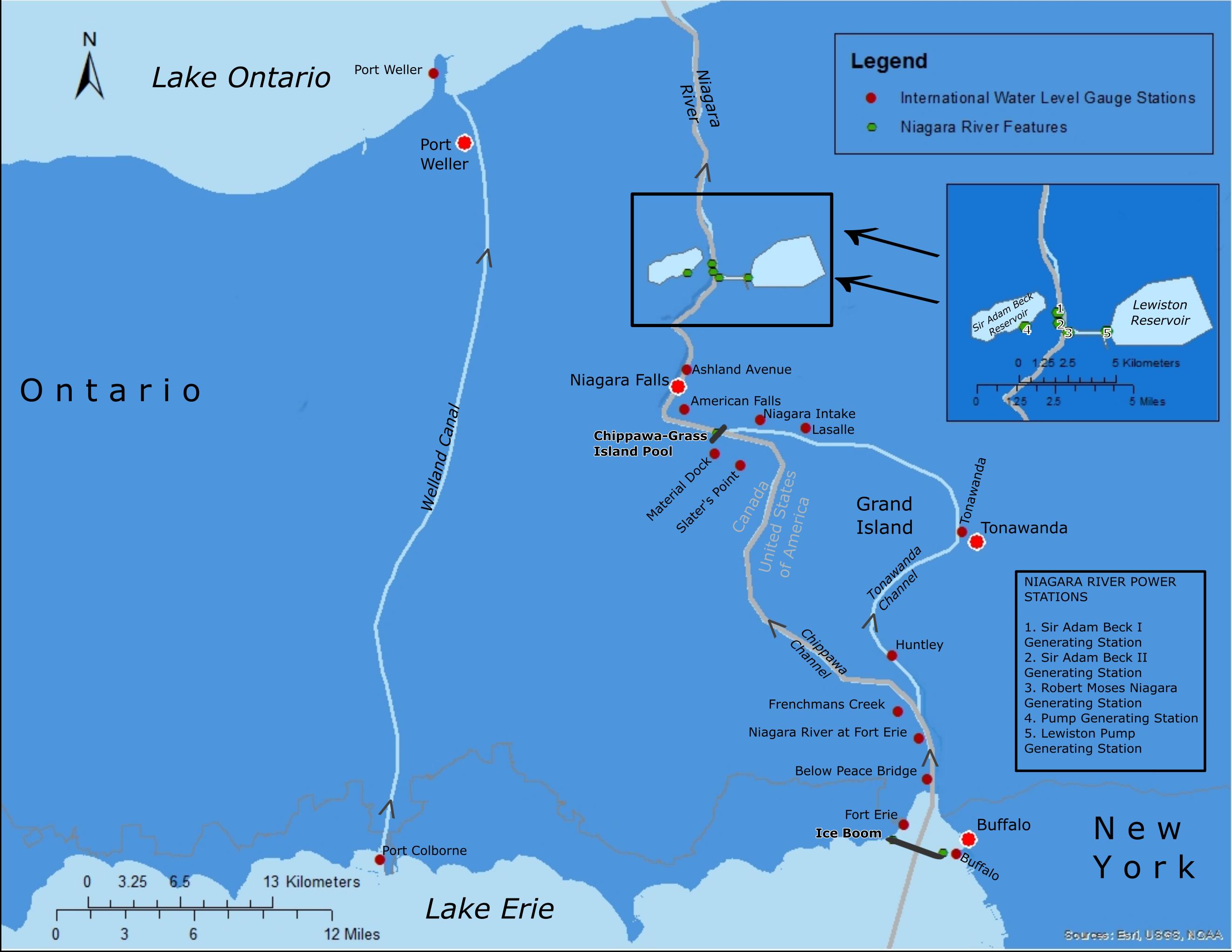 Niagara River Basin Map