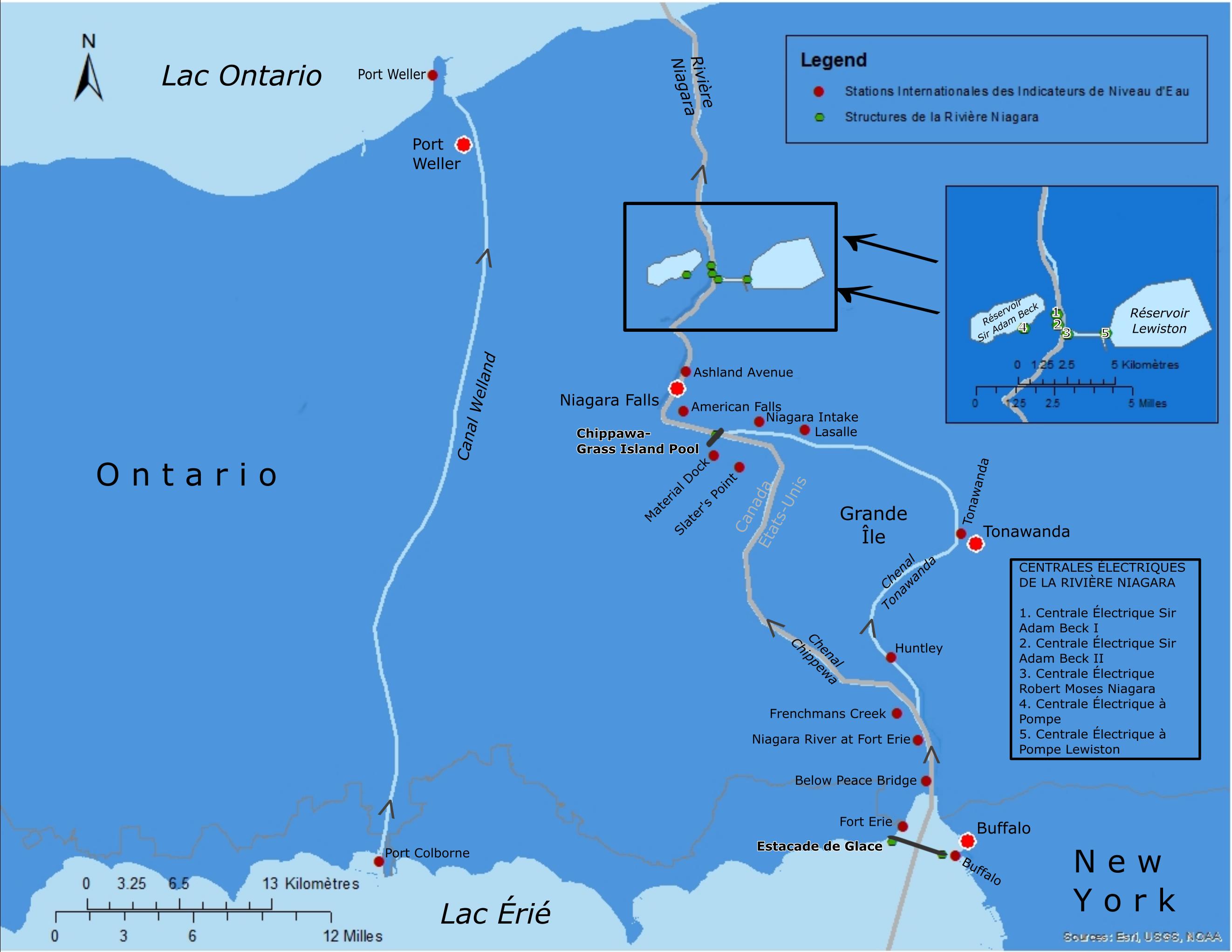 Carte de Bassin de la rivière Niagara