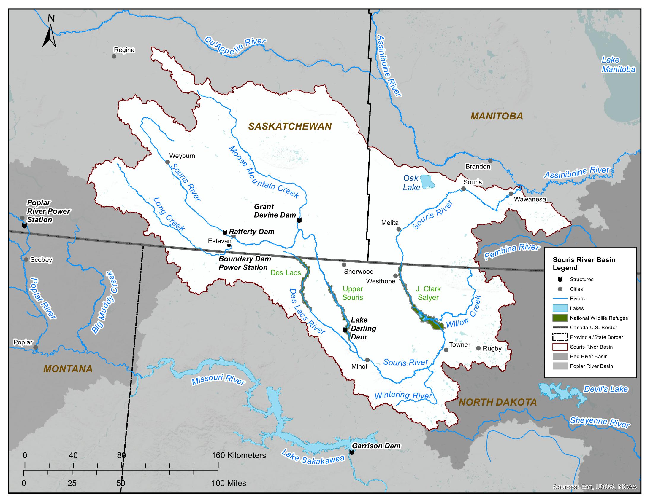 Souris River basin map