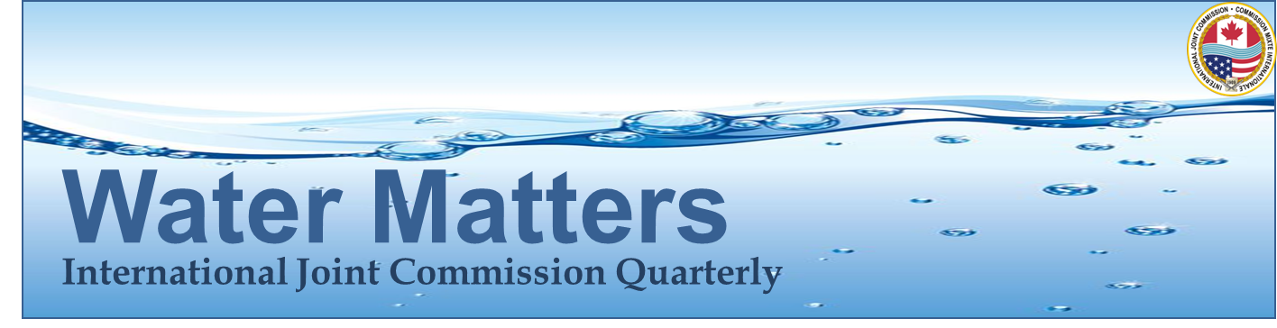 Logo of IJC newsletter Water Matters