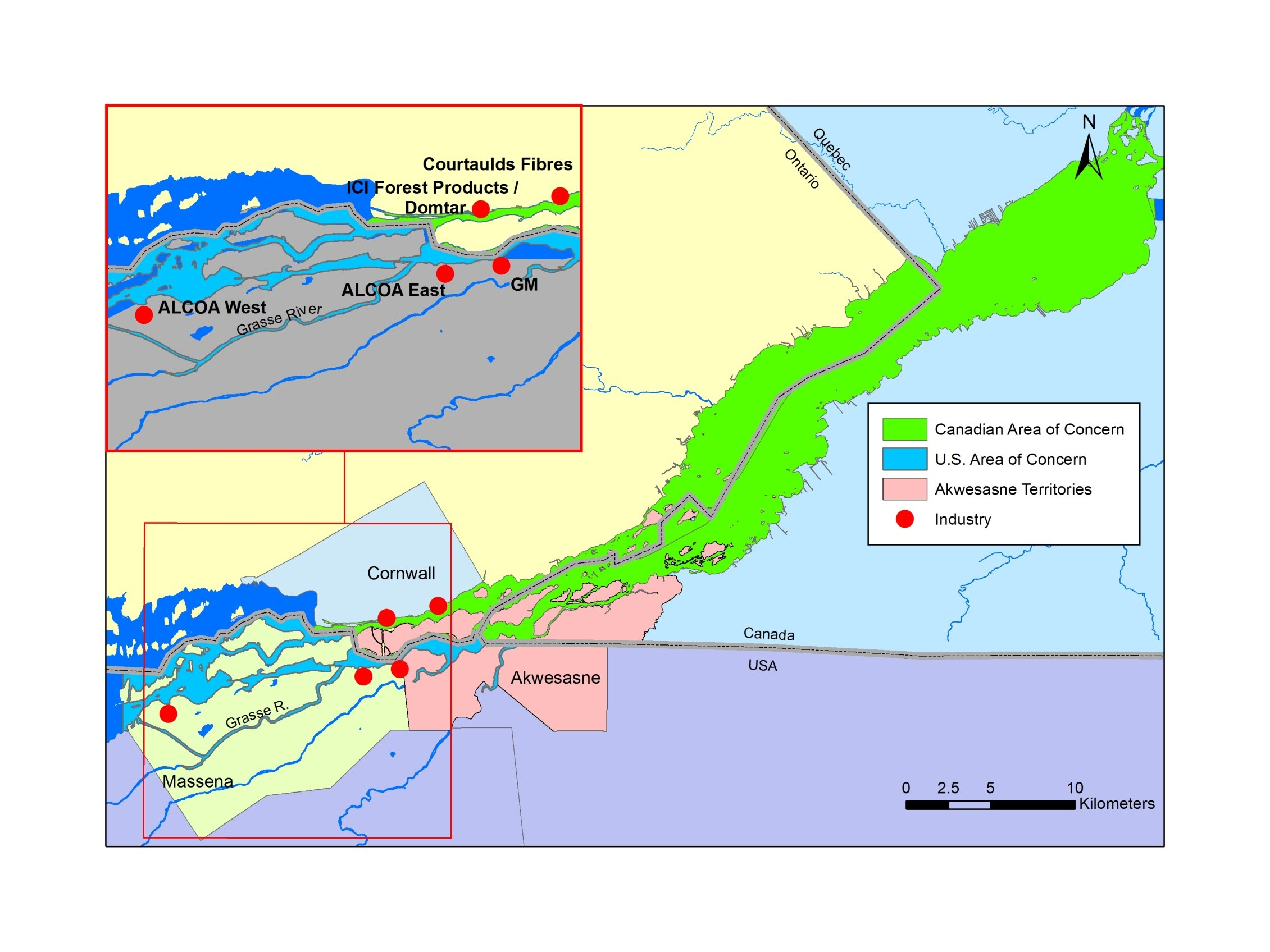 Canadian St. Lawrence River Area of Concern