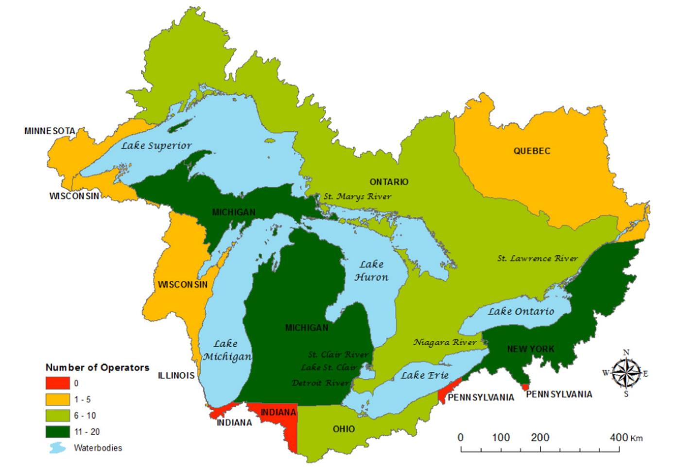 map great lakes monitoring