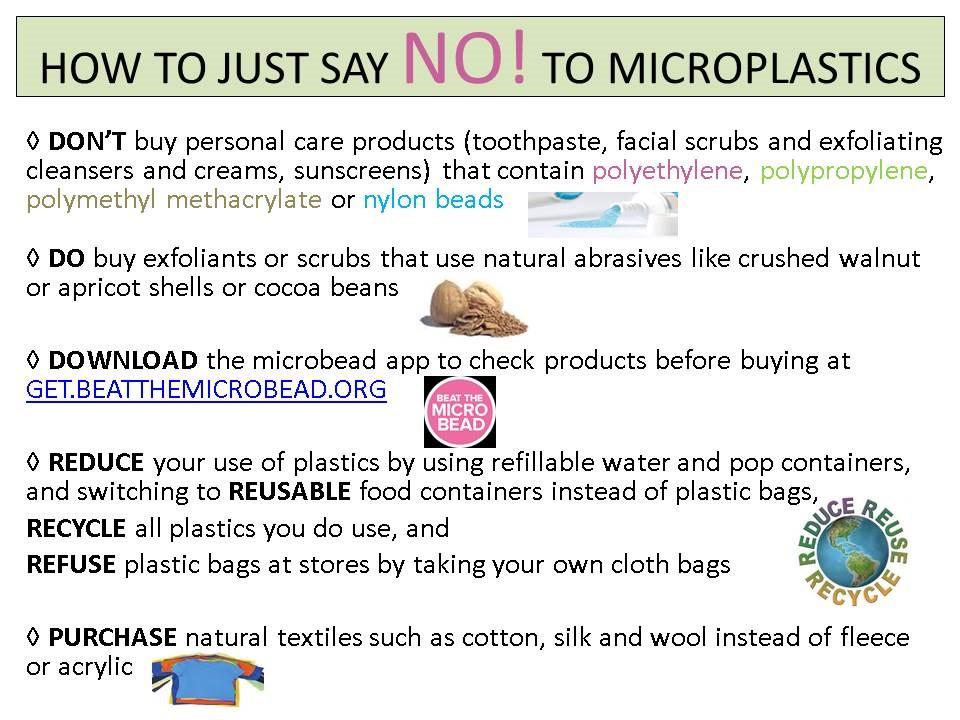 Comment dire NON! aux microplastiques