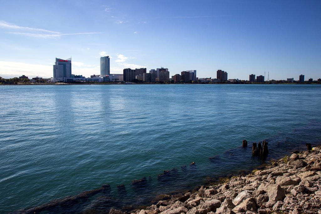The Detroit riverfront. Credit: Anna Fox.