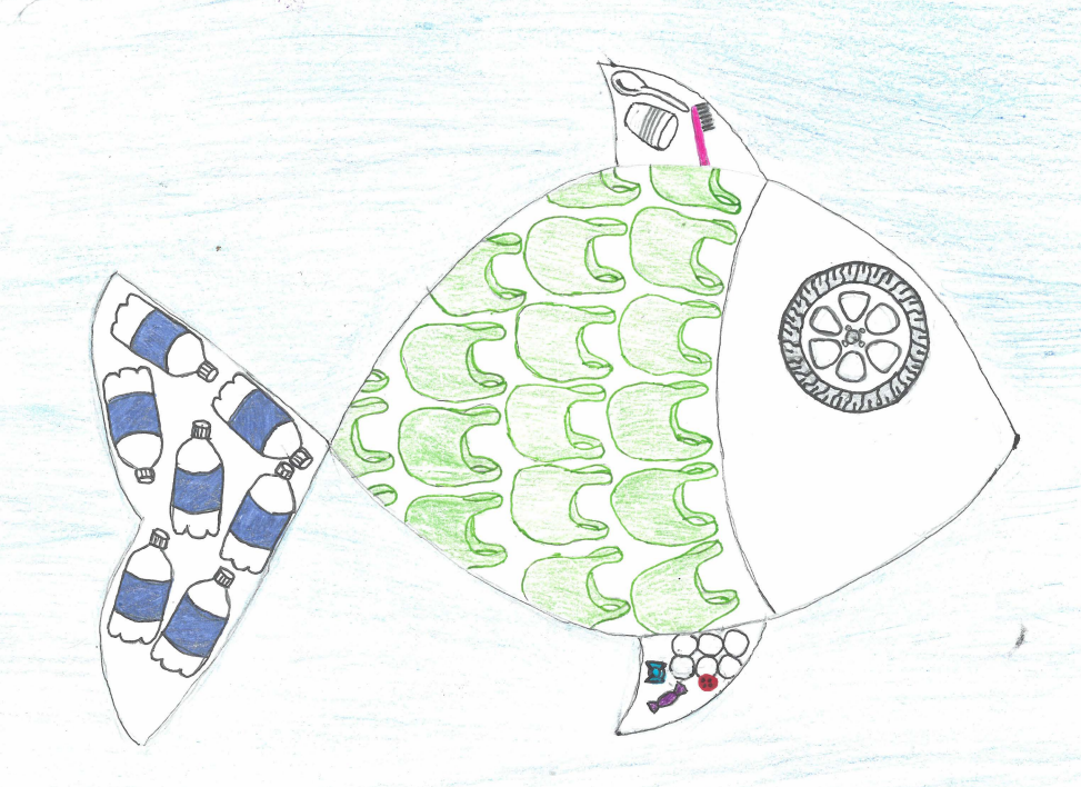 The fish here is a winning entry from the 2017 calendar, by eighth-grader Malley M. of Michigan