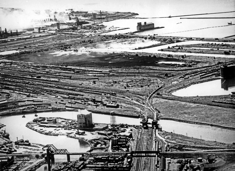 Vue historique de Buffalo, dans l'État de New York. Photo : Lower Lakes Marine Historical Society