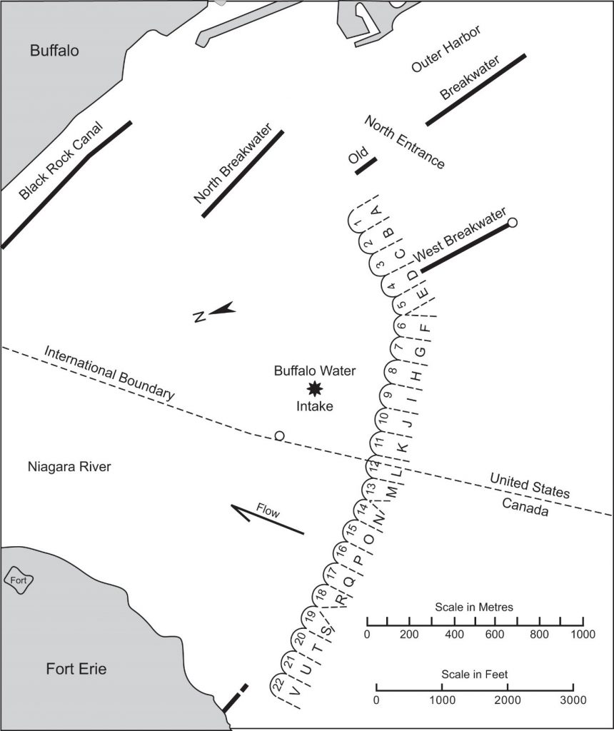ice boom map lake erie buffalo