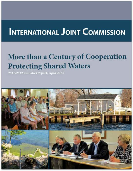 Cover page of the IJC Activities Report, 2011-2012.