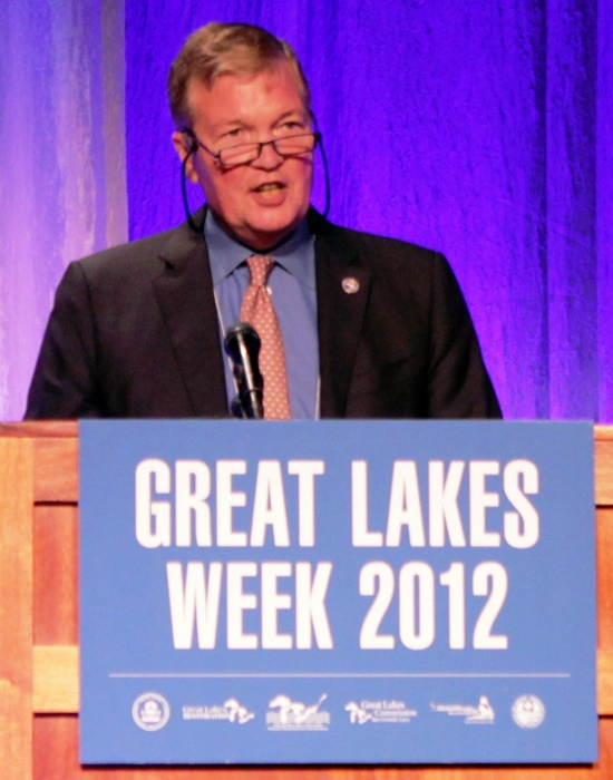 Canadian Commissioner Lyall Knott speaks during Great Lakes Week in 2012.