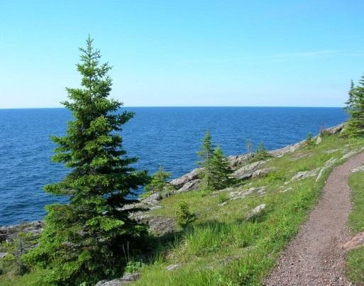 The Lake Superior shoreline. Credit: Carri Lohse-Hanson.