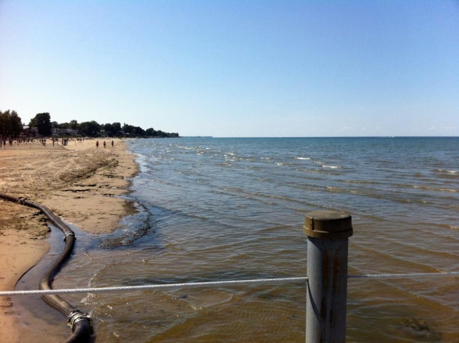 La plage Ontario Beach après le nettoyage de la manifestation « très importante » d'algues. Source : Service de l'environnement du comté de Monroe