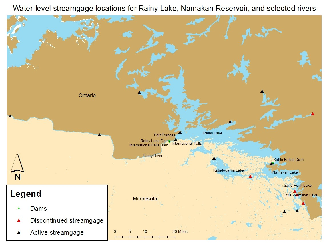 The harmonization study refined water elevation data across the Rainy-Namakan system. Credit: IJC