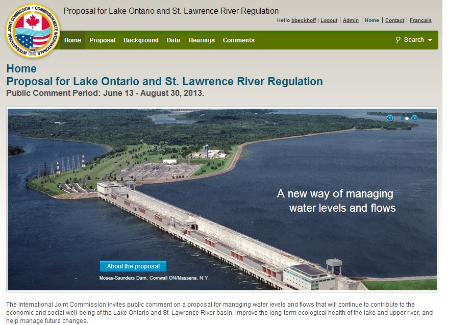 Proposal for Lake Ontario St Lawrence River Regulation