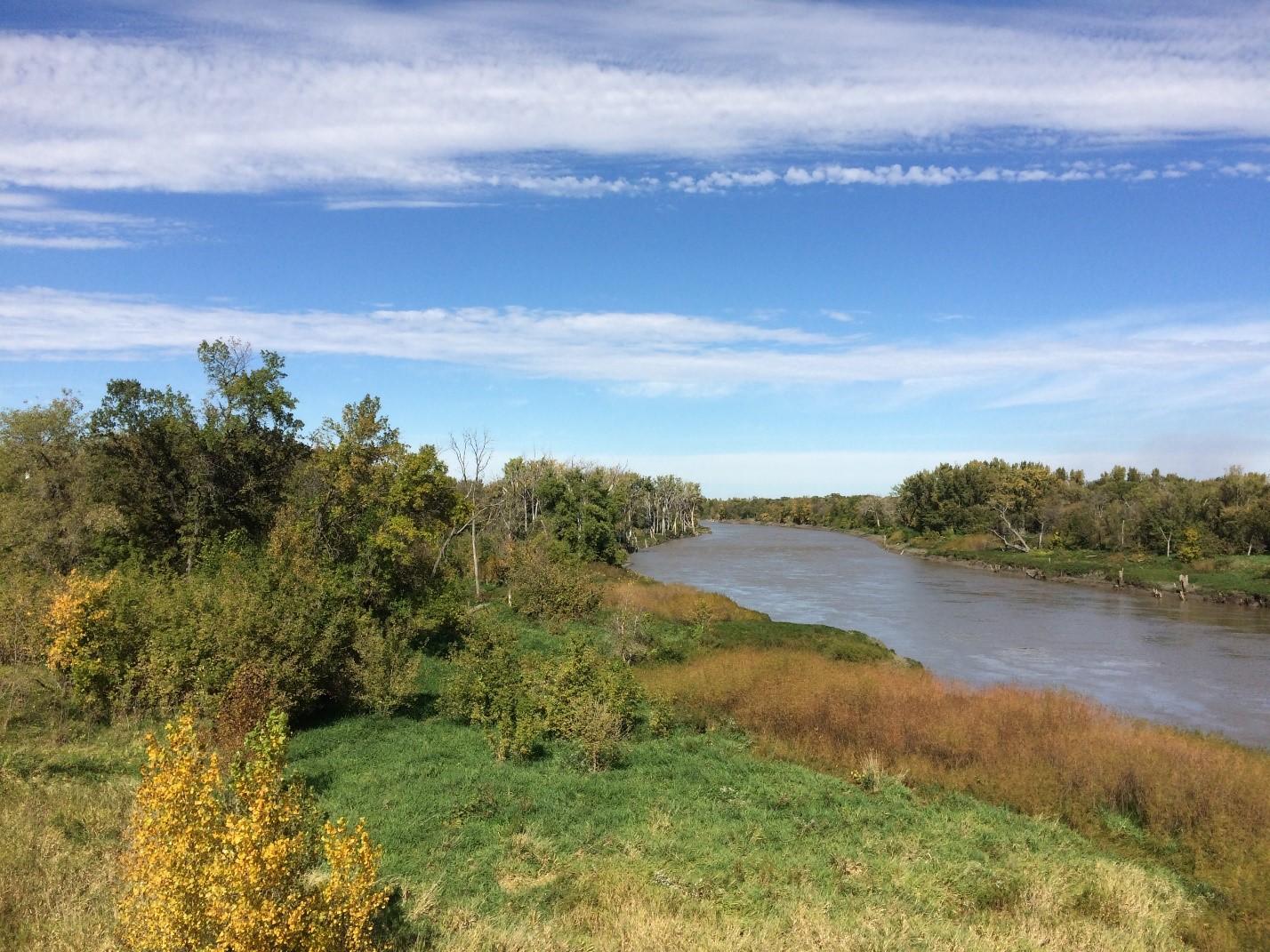 Red River flowing Manitoba
