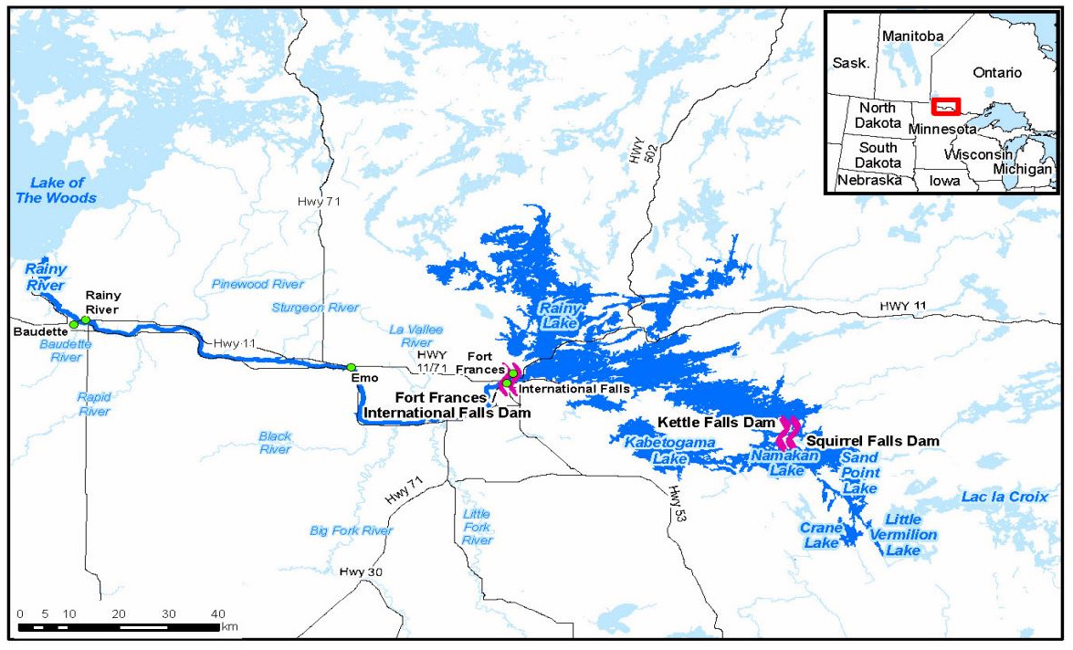 rainy lake ontario map A Plane With Lasers Helps Answer Questions About Rainy Lake Dams rainy lake ontario map