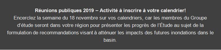 Réunions publiques 2019 - Activité à inscrirer à votre calendrier!