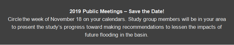 2019 Public Meetings - Save the Date! Circle the week of November 18 on your calendars.
