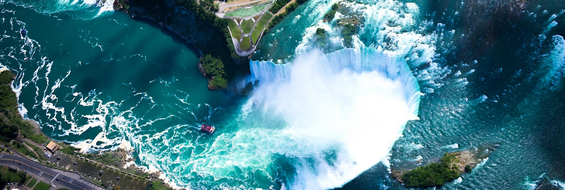 Aerial view of Niagara Falls