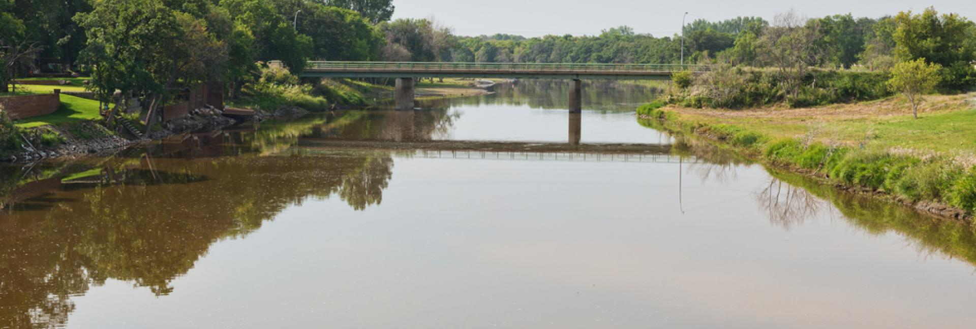 Image of the bridge over the Souris River in Manitoba, Canada