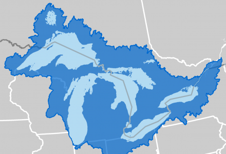 St Lawrence River World Map.Transboundary Waters International Joint Commission