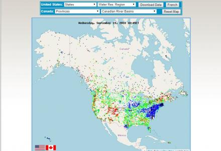 North America WaterWatch screenshot
