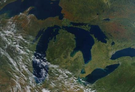 Great Lakes seen from space