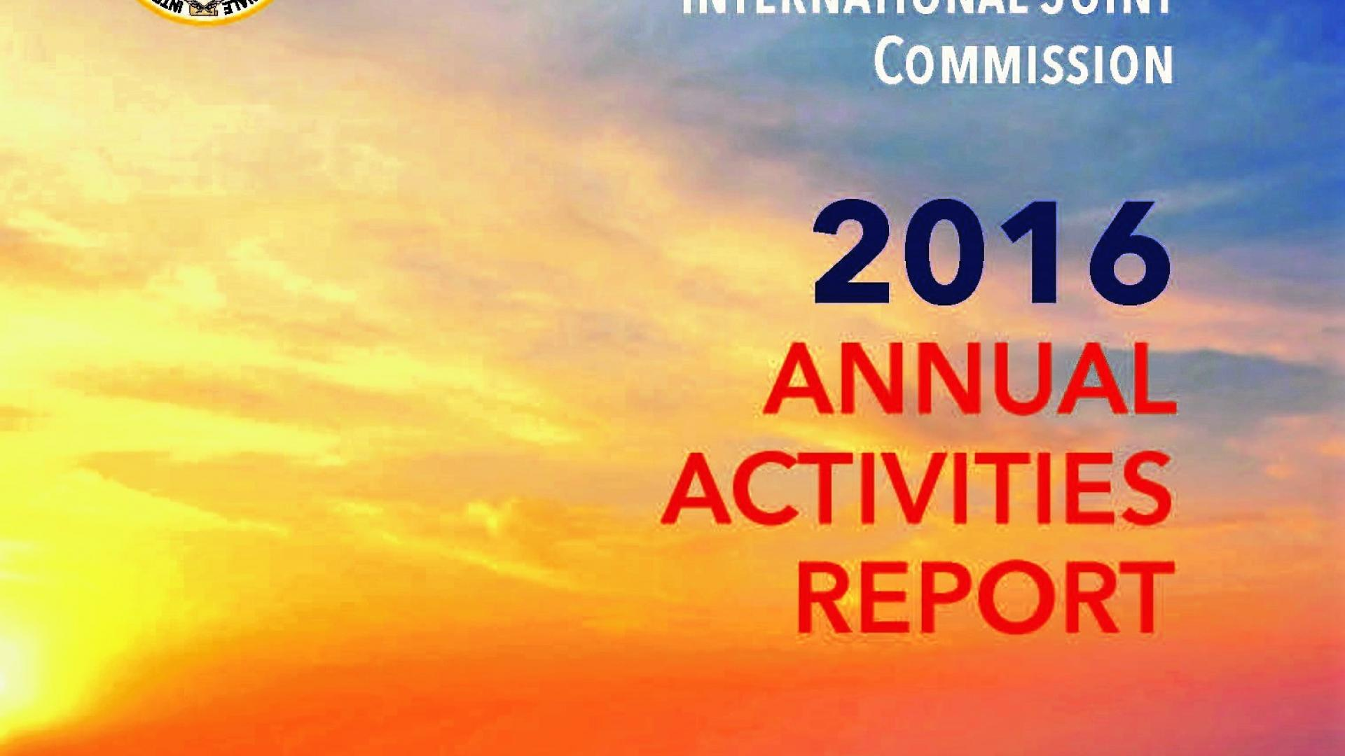 Water Matters - IJC 2016 Annual Activities Report