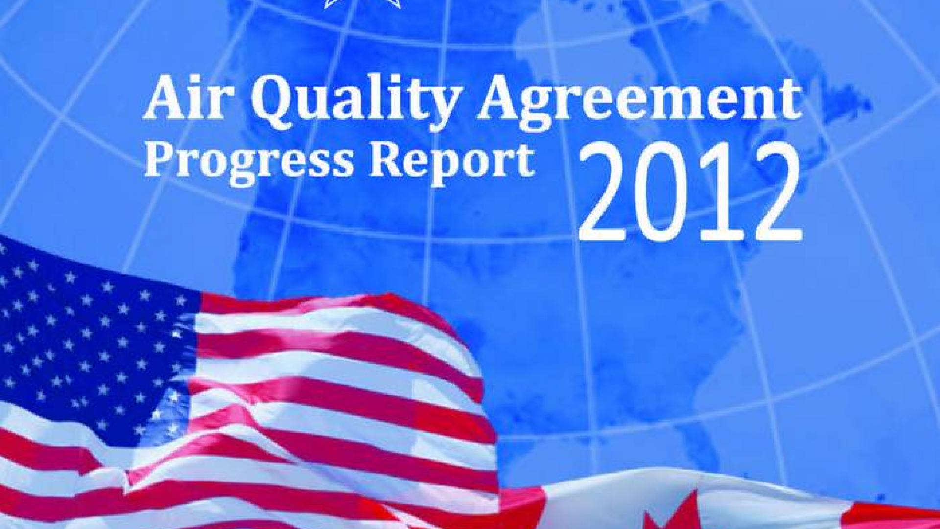 Air Quality Agreement Progress Report 2012 cover