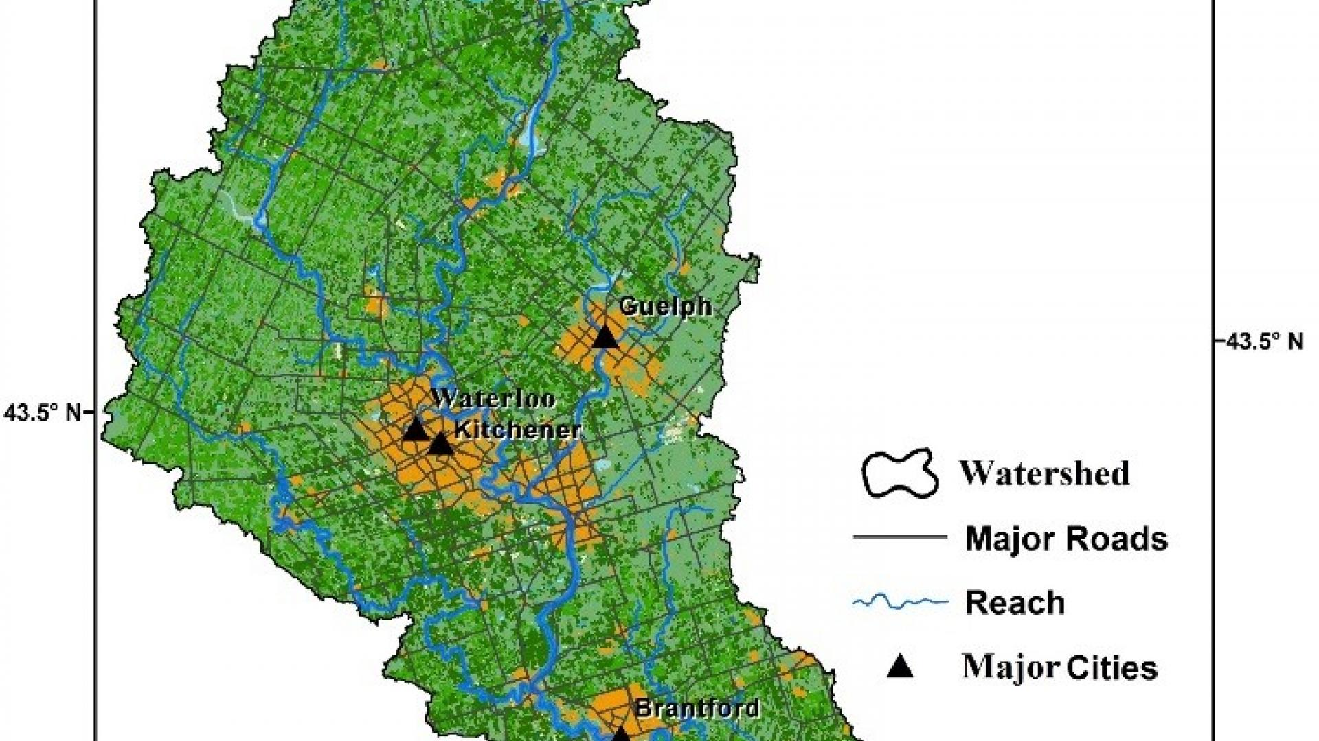 grand river watershed map