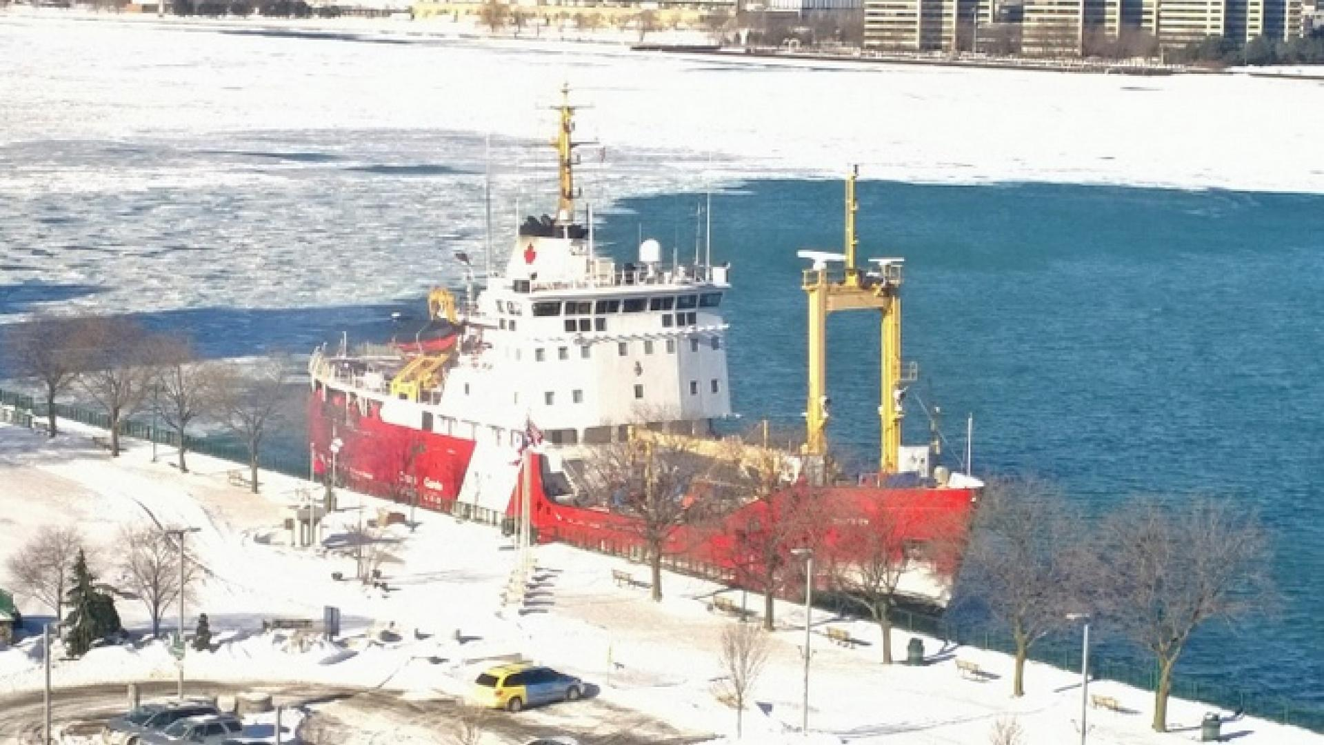 An icebreaker in the Detroit River.