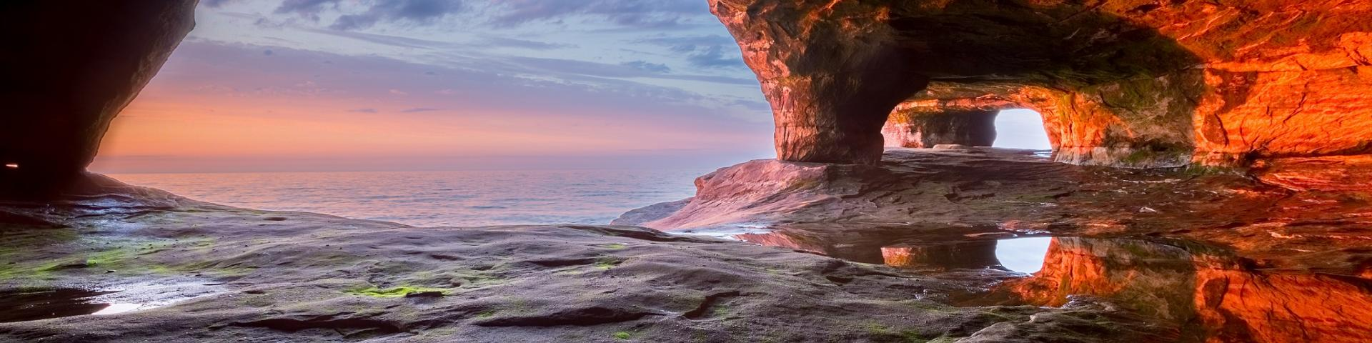 Apostle Islands caves in Lake Superior