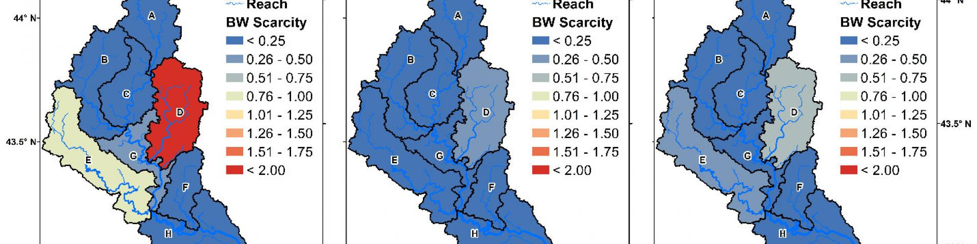 blue water scarcity