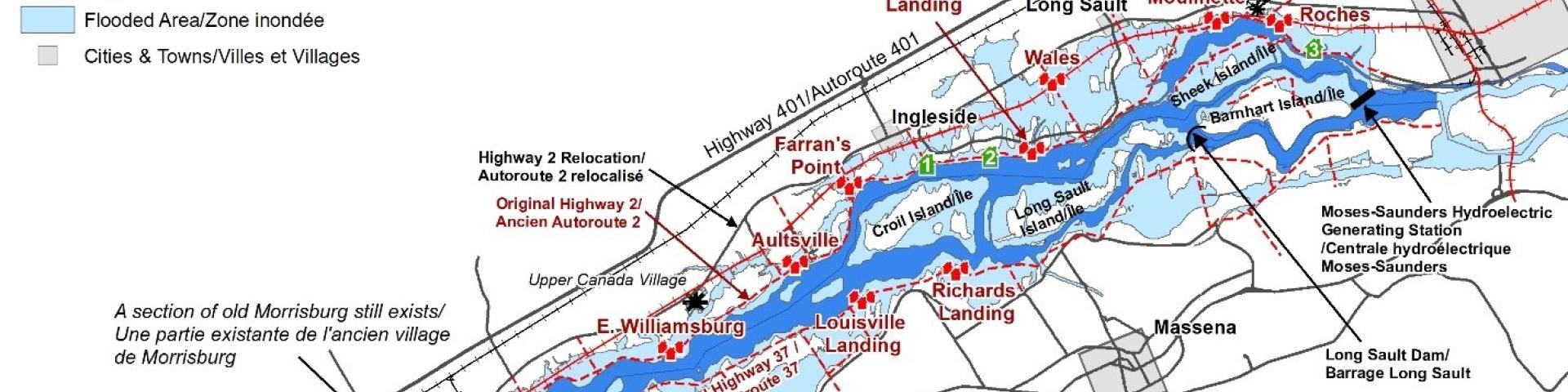 map lake st lawrence