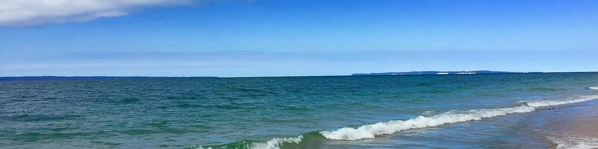 Lake Michigan and the Manitou Islands
