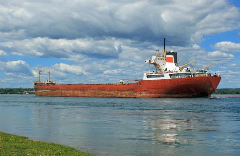 Picture of a Great Lakes shipper