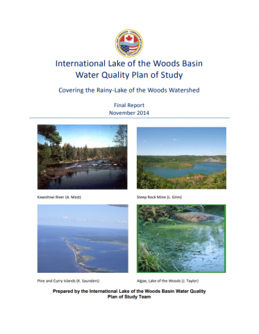 Cover of the ILOWB Water Quality Plan of Study