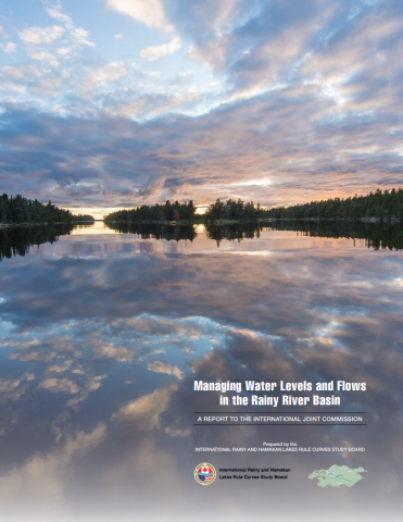 """Cover of the report """"Managing Water Levels and Flows in the Rainy River Basin"""""""