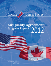 Cover of the 2012 Air Quality Progress Report