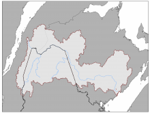 Icon map of the St. John River watershed