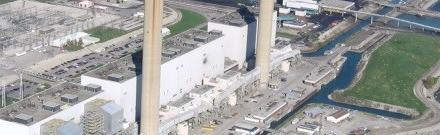 Water Matters - Aerial view of the Ontario Power Generating Station on Lake Erie
